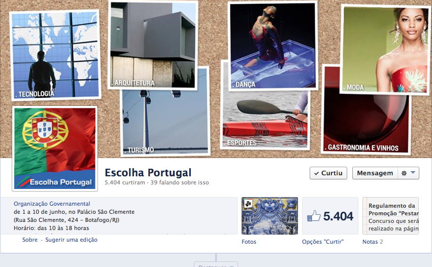 Fanpage do Escolha Portugal